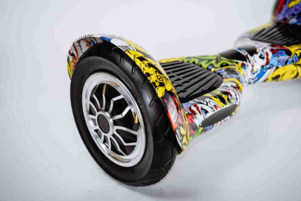 Hoverboard 10 palcov Graffiti - Z boku detail