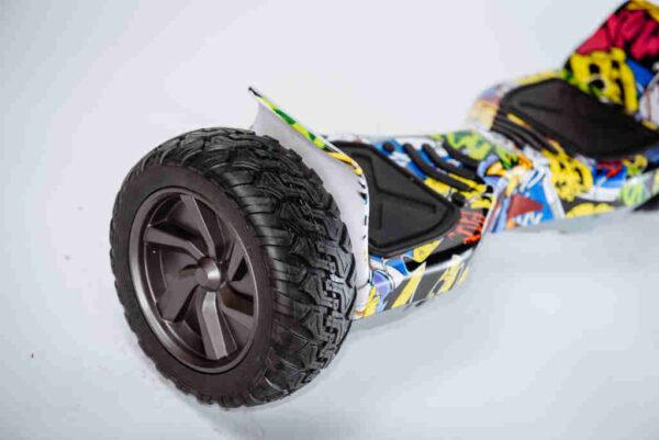 Hoverboard Smart balance offroad Graffiti - Detail na koleso