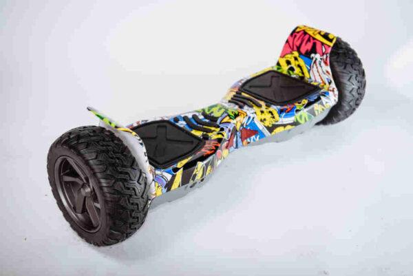Hoverboard Smart balance offroad Graffiti - Z boku