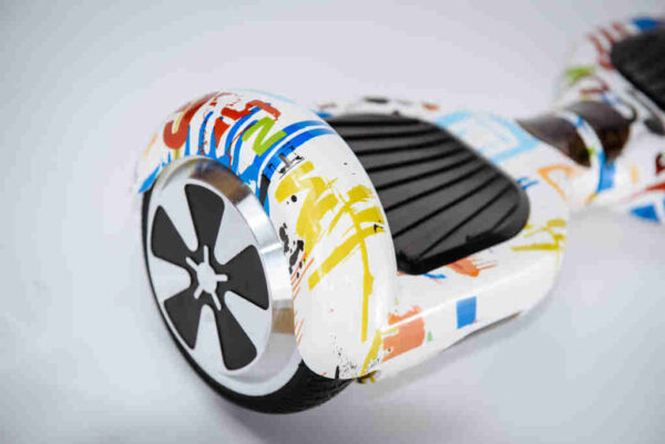 Hoverboard Balancewheel Crazy graffiti - Z boku detail