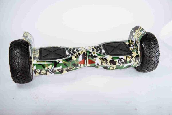 Hoverboard Maskáčový s drapákmi spredu