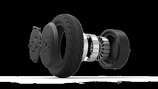 Elektrická koloběžka s 10 palcovými kolečky barva černá